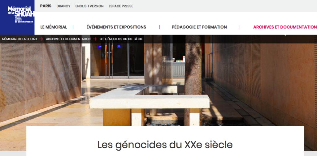 Les génocides du XXe